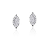 Marquise Shape Brilliant Diamond Stud Earrings