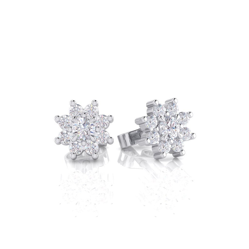Star Cluster Diamond Stud Earrings