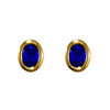 Blue Sapphires in 18ct Gold Stud Earrings