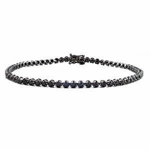 Brilliant Black Diamond Bracelet 18ct White Gold