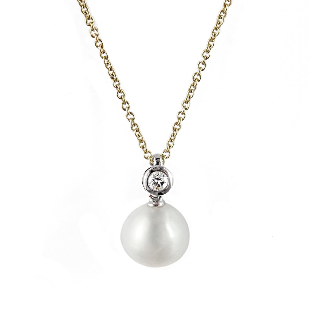 South Sea Pearl and Diamond Pendant | Shop Online | Pendant - Rosendorff