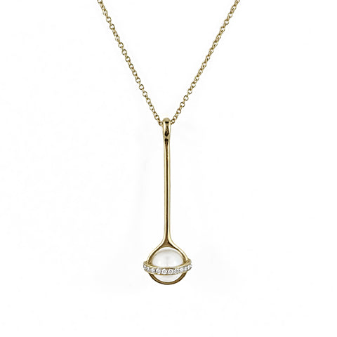 Unique South Sea Pearl and Diamond Pendant | Shop Online | Pendant - Rosendorff