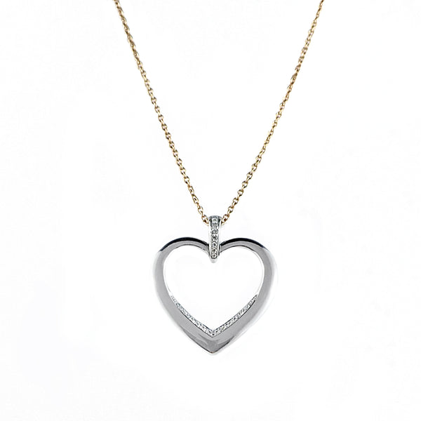 White Gold and Diamond Pendant Necklace | Shop Online | Necklace - Rosendorff