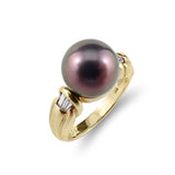 Black Pearl and Diamond Ring | Shop Online | Ring - Rosendorff