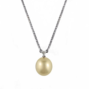 Golden South Sea Pearl and Diamond Pendant | Shop Online - Pendant - Rosendorffs Diamonds Perth, Australia