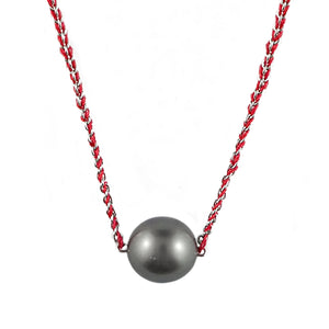 Tahitian Pearl on Satin and Gold Necklet | Shop Online - Necklace - Rosendorffs Diamonds Perth, Australia