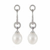 Drop South Sea Pearl and Diamond Earrings | Shop Online | Earrings - Rosendorff