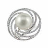 Swirls of Diamonds and South Sea Pearl Ring | Shop Online | Ring - Rosendorff