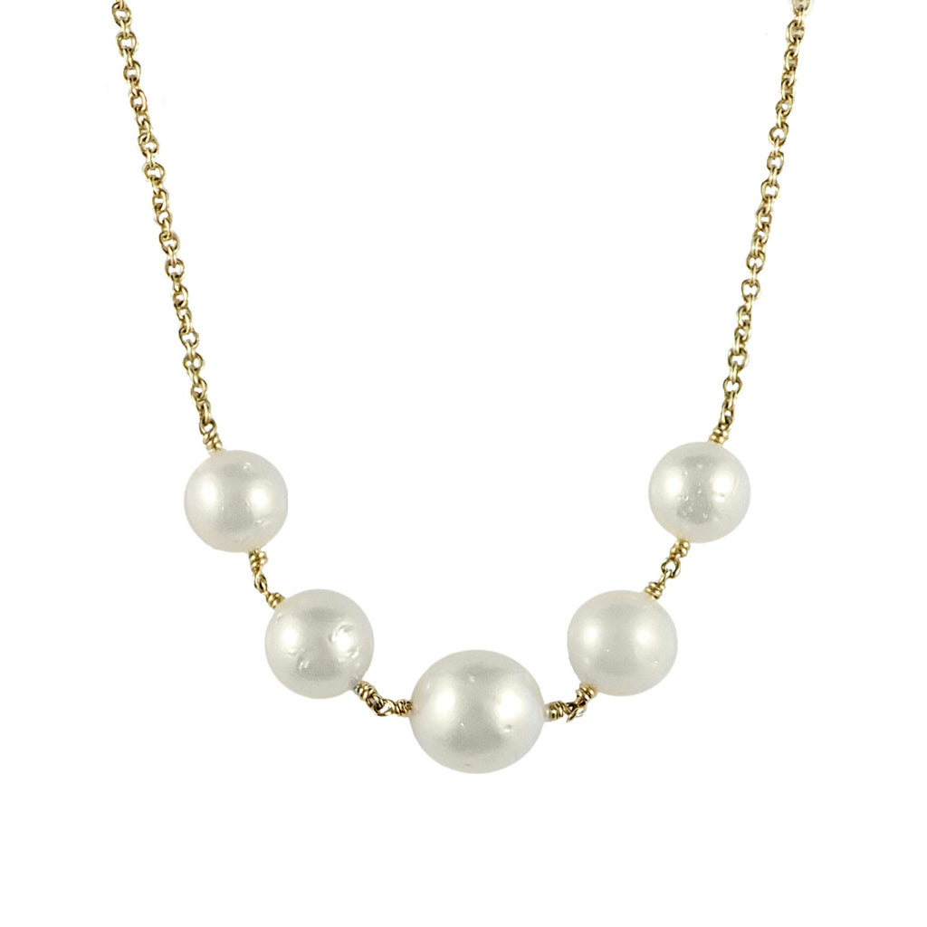 Broome Pearl and Gold Chain | Shop Online | Chain - Rosendorff