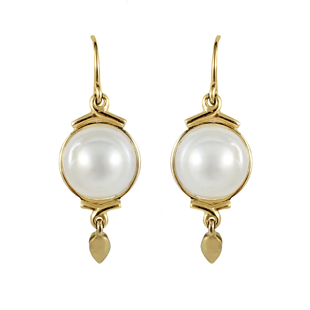 Baroque Pearl Drop Earrings | Shop Online | Earrings - Rosendorff