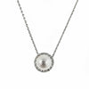 Highlight Diamond and Pearl Halo Pendant