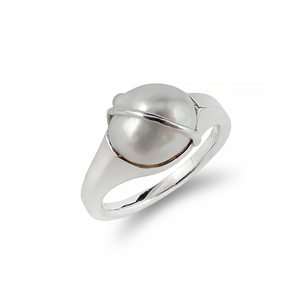 Unique De La Mer Keshi Pearl Ring | Shop Online | Ring - Rosendorff