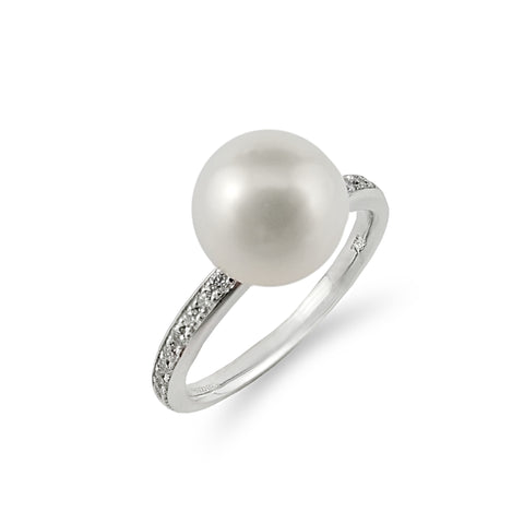 South Sea Pearl Diamond White Gold Ring | Shop Online | Ring - Rosendorff