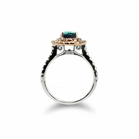 Classy and Elegant Solid Australian Opal and Diamond Ring | Shop Online | Ring - Rosendorff