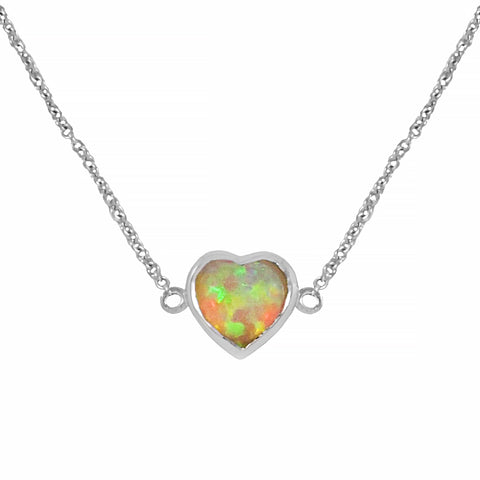 Heart shaped Crystal Opal Bracelet