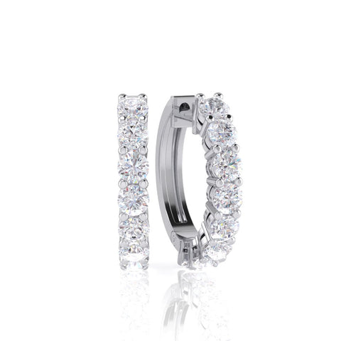 White Gold Diamond Earring - 3910694