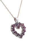 Ruby Heart Pendant 18ct white gold