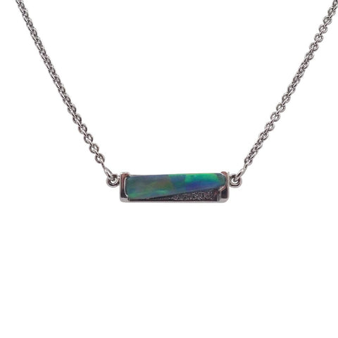 Lightning Ridge Opal & Diamond Pendant