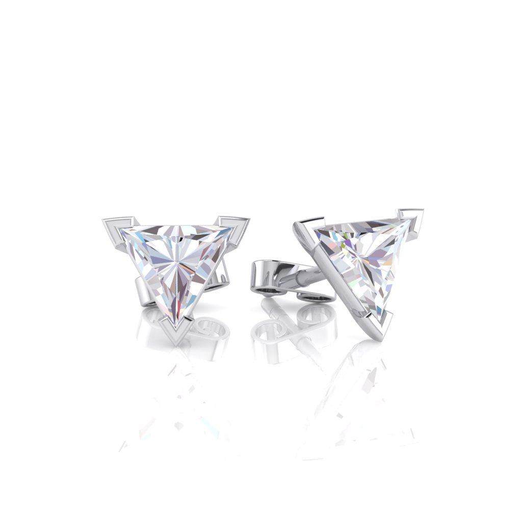 Trillion Cut Diamond Stud Earrings