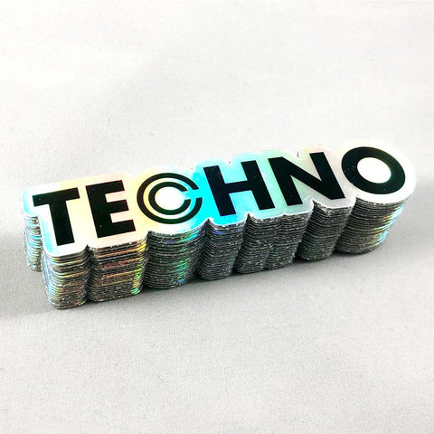 Techno Holographic Sticker