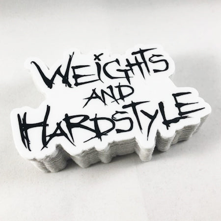 Weights and Hardstyle Sticker