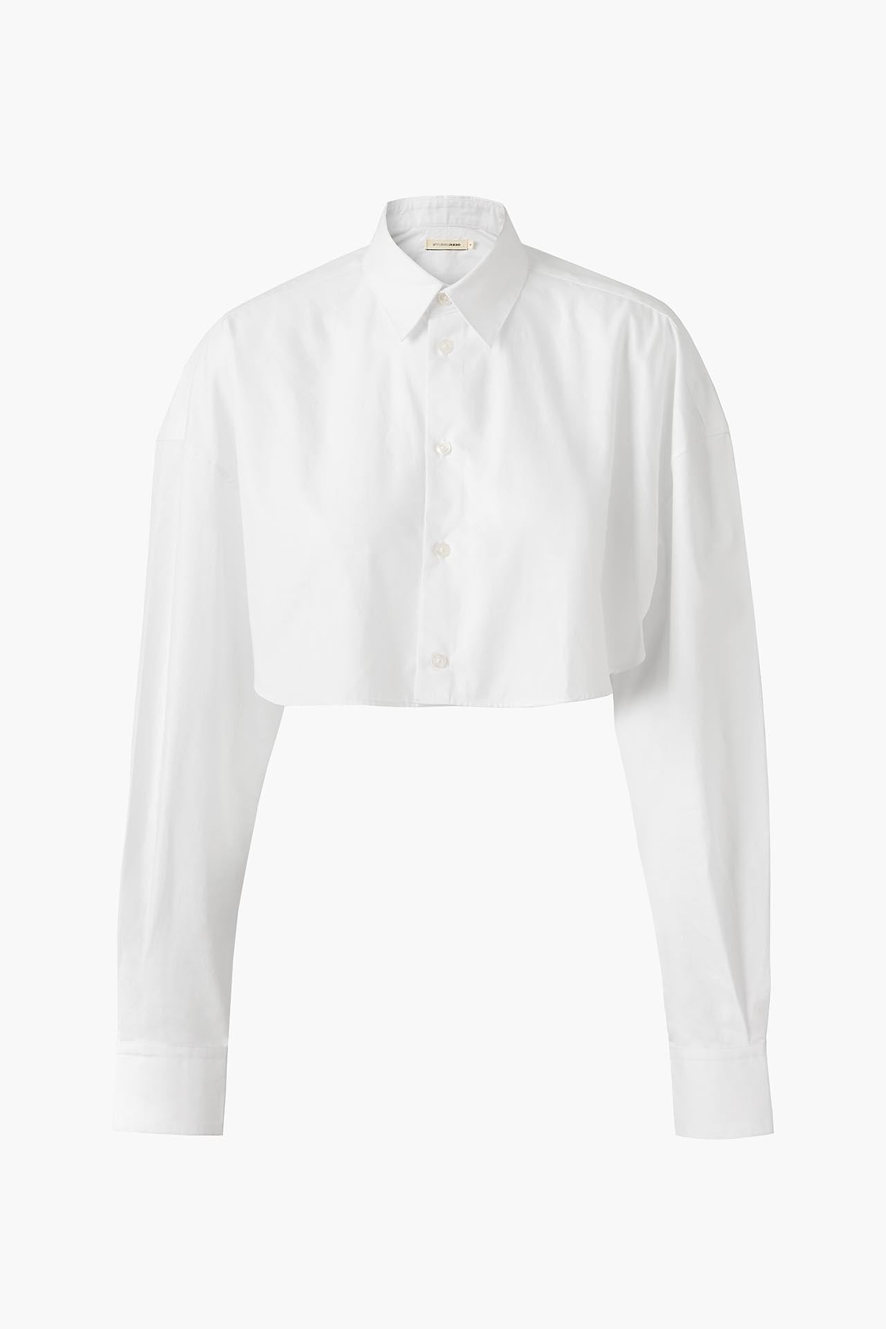 White Cotton Shirt - Cropped Fit