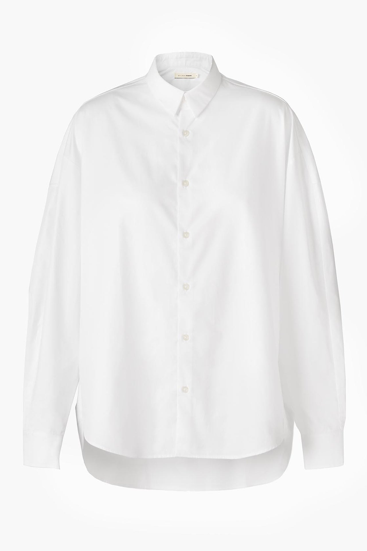 White Cotton Shirt - Boyfriend Fit