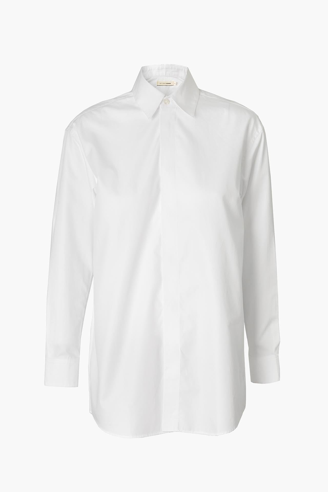 White Cotton Shirt - Regular Fit