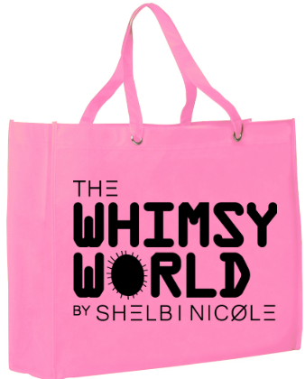 Whimsy World Tote Bag (BLK)