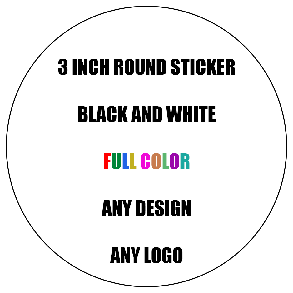 Load image into gallery viewer 3 inch round circle cut custom stickers