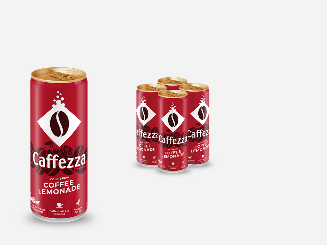4 x Caffezza Coffee Lemonade Probierpaket