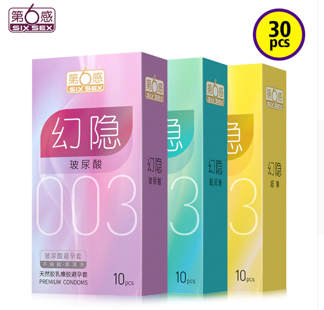 Jissbon Six Sex 30pcs Hyaluronic acid Condoms