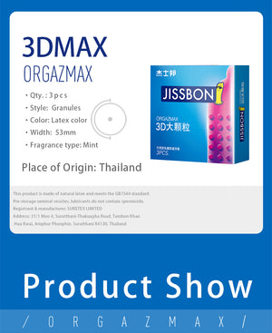 The specifications of Jissbon Orgazmax