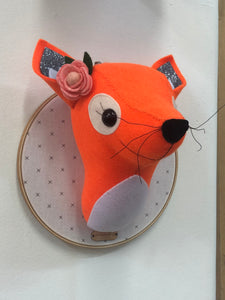 Felt Taxidermy Fox
