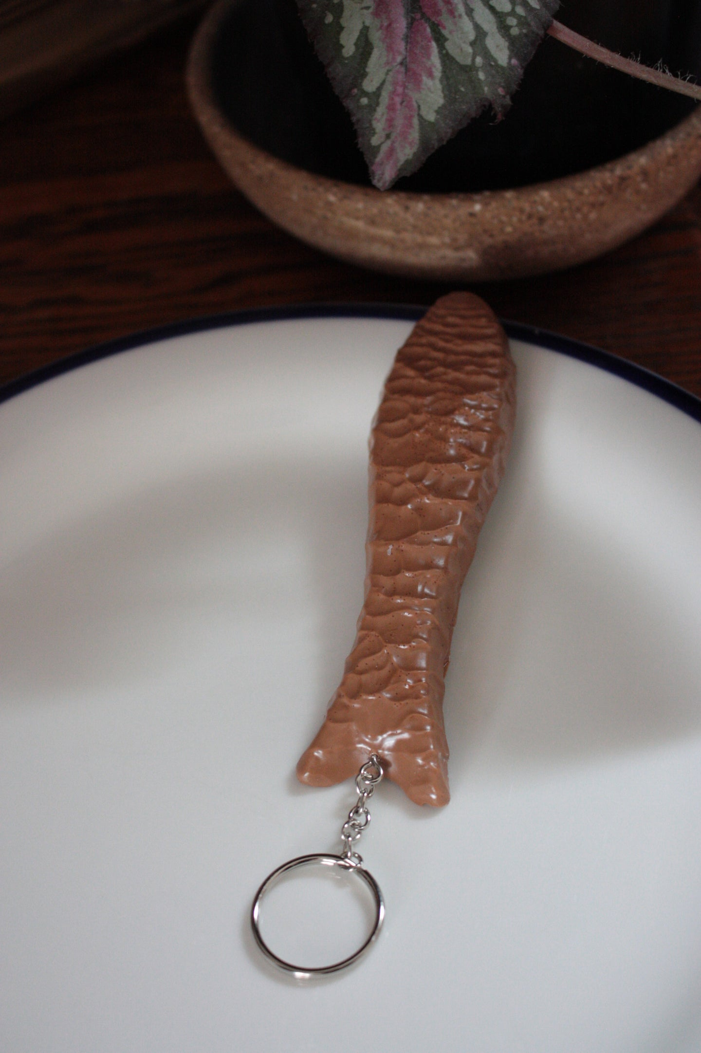 Chocolate Fish Keyring