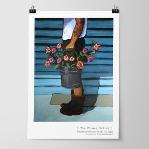 The Flower Seller - Fine Art Print A4