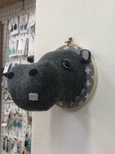 Load image into Gallery viewer, Felt Taxidermy Hippo