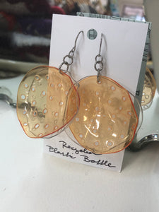 Stranger than Paradise Orange Earrings
