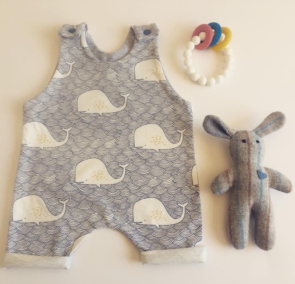 Whale Shorties Romper