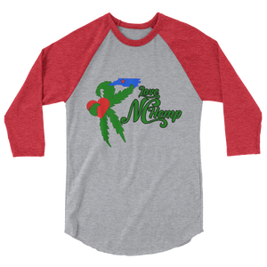 Love NC Hemp 3/4 sleeve raglan shirt