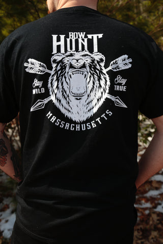 Bow Hunt Mass Bear Logo T-SHIRT