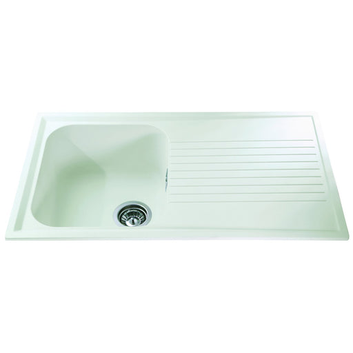 CDA AS1CM Composite single bowl sink (Cream)