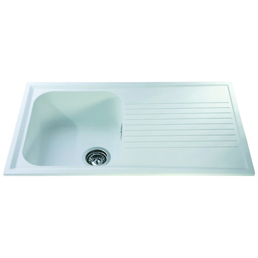 CDA AS1WH Composite single bowl sink (White)