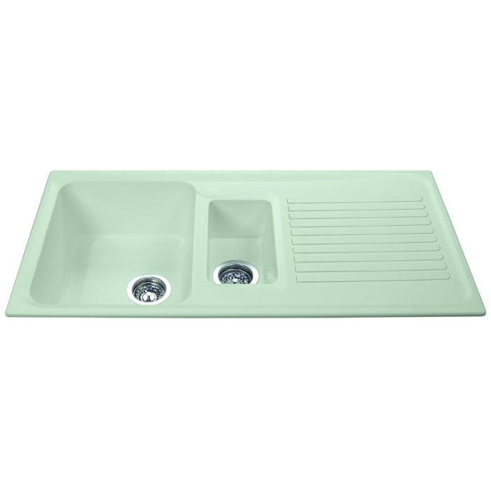 CDA AS2CM Composite one and a half bowl sink (Cream)