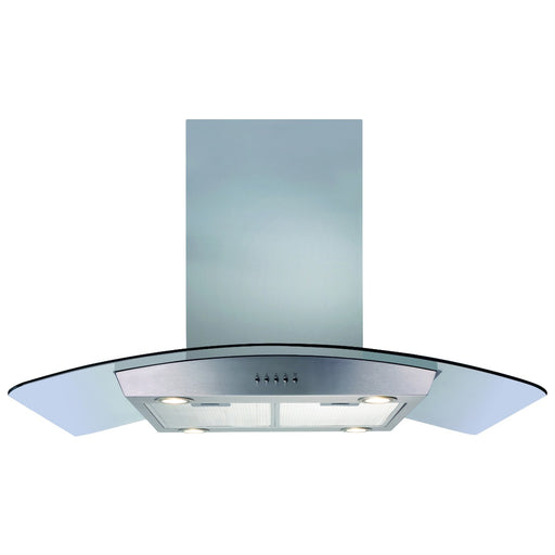 CDA ECPK90SS Curved glass island extractor