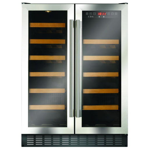 CDA FWC624SS Freestanding/under counter double door wine cooler