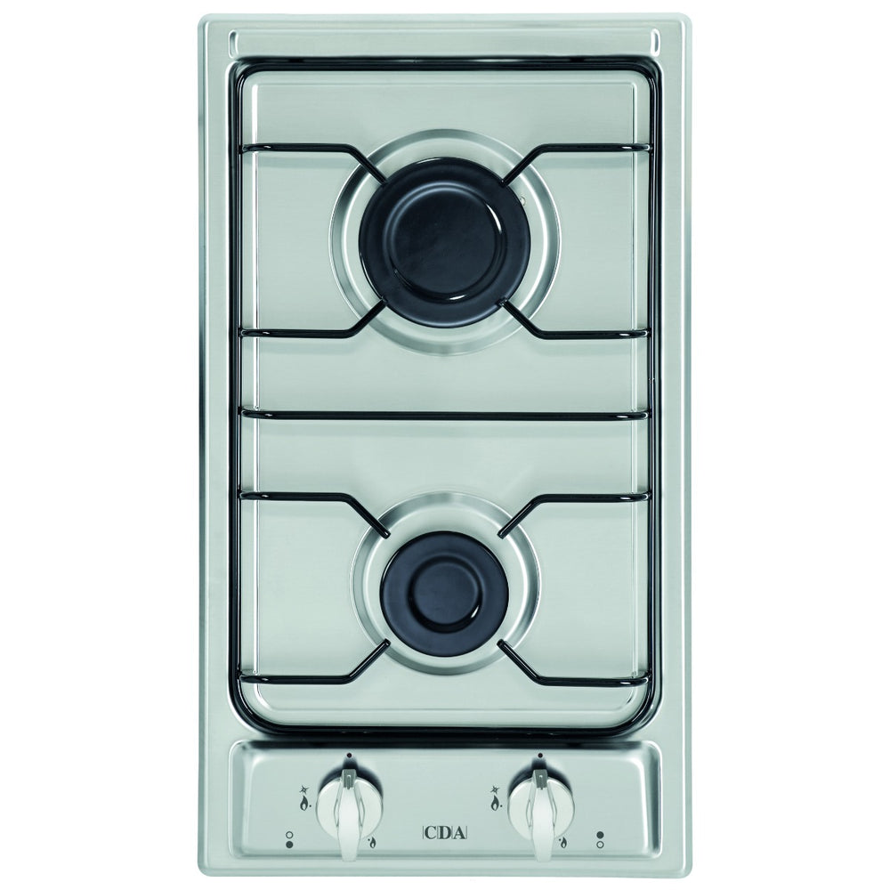 CDA HCG301SS Domino two burner gas hob