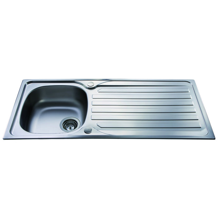 CDA KA21SS Stainless steel single bowl sink