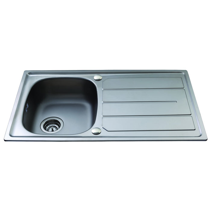 CDA KA30SS Stainless steel compact single bowl sink