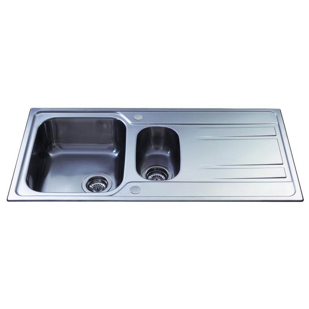 CDA KA72SS Stainless steel one and a half bowl sink